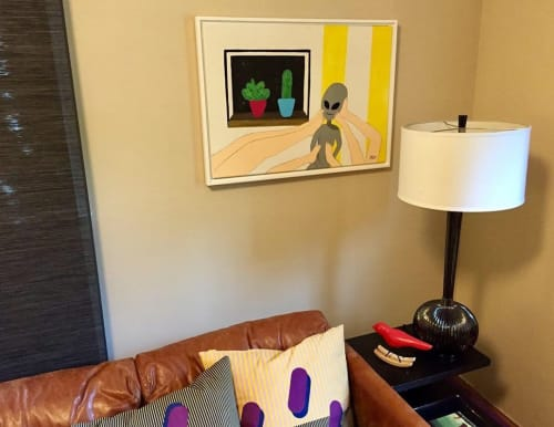 Paintings by Taj Bourgeois seen at Private Residence, Cambridge - Artwork (alien)