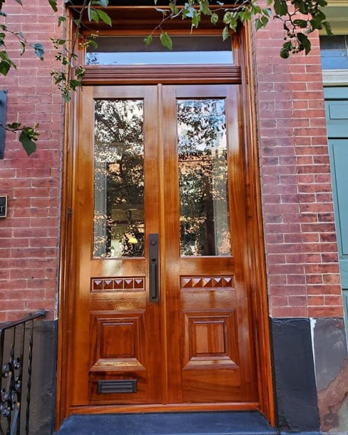 Architecture by Arbol Furniture and Design seen at Private Residence, Philadelphia - Fairmont neighborhood entry doors