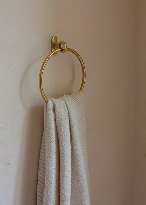 Hardware by Mi&Gei Hardware Design Studio seen at Creator's Studio, Assagao - Brass Towel ring for bathroom | bronze Towel ring |