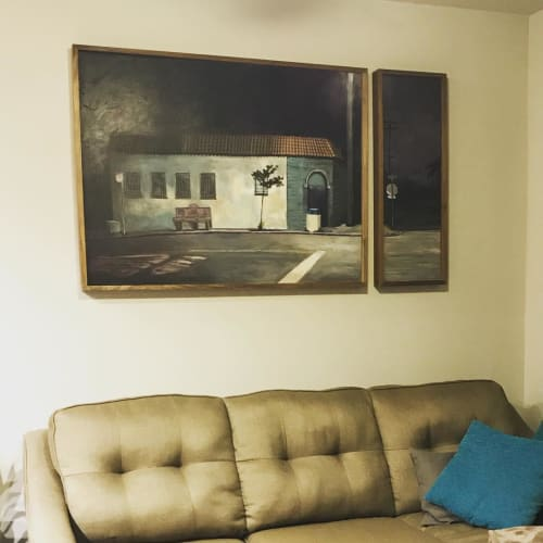 Paintings by Jessica Newman seen at Private Residence, Tiburon - Moose Lodge