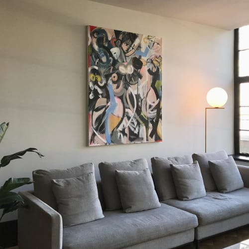 Paintings by Gee Gee Collins seen at Private Residence, New York - Gardening at Night