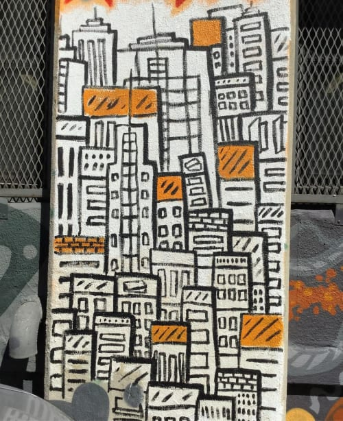 Murals by Andrea Caceres seen at Arts Org Top to Bottom Mural Project, Queens - City