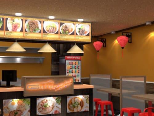 Interior Design by Studio Hiyaku seen at 125 Burwood Rd, Burwood - Gai Hoi Street Food