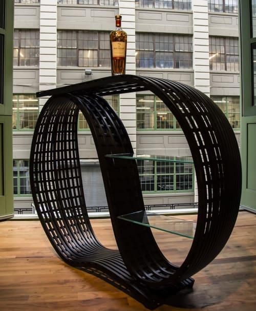 Sculptures by Matthias Pliessnig seen at Industry City, Brooklyn - Cocktail Bar