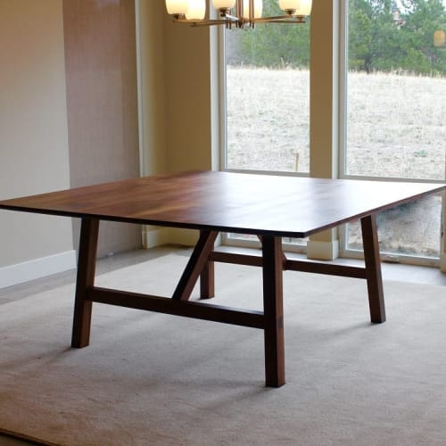 Tables by Clay Street Woodworks seen at Private Residence, Morrison - Marie's Dining Table