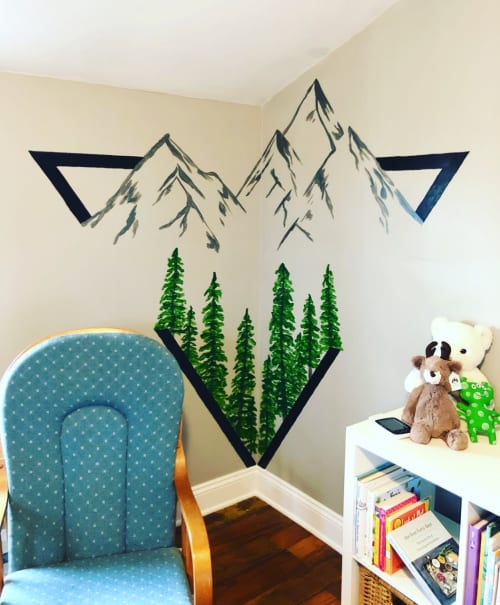 Murals by Chelsea Foster seen at Private Residence, York - Wall mural