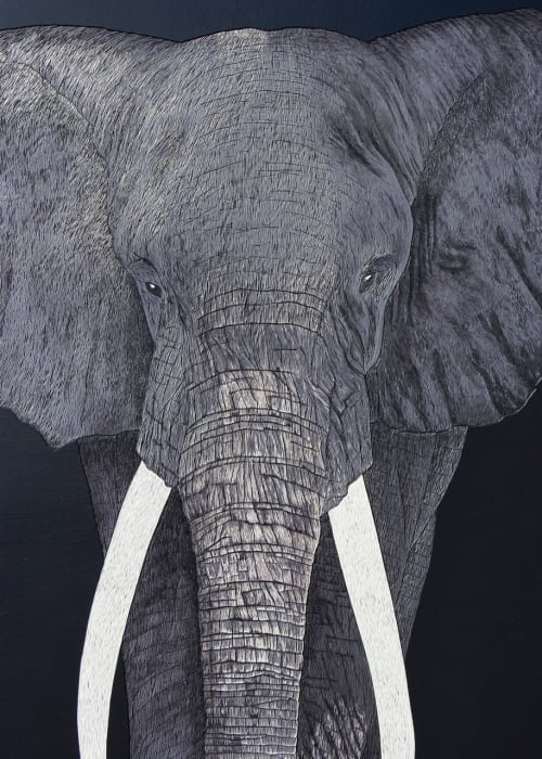 Paintings by Hannah Jensen seen at Private Residence, Auckland - Sage the Elephant