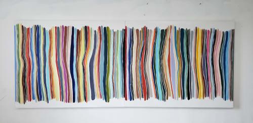 Paintings by John Platt seen at The Marmara Park Avenue, New York - 1B