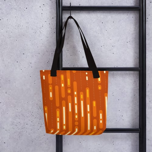 Apparel & Accessories by Michael Grace & Co seen at Creator's Studio, Seattle - Mid-Century Sunset Tote Bag