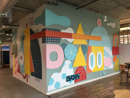 Murals by Jesse LeDoux seen at Facebook Westlake, Seattle - Facebook AIR, Seattle