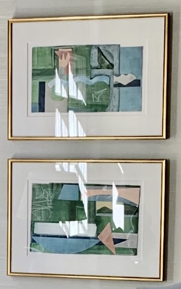 Paintings by Diana Newman seen at Private Residence, Charlotte - Tuileries I and II