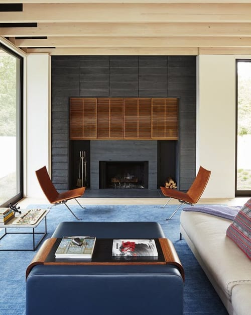 Benches & Ottomans by Lumifer by Javier Robles seen at Private Residence, Amagansett - Custom OBI Ottoman