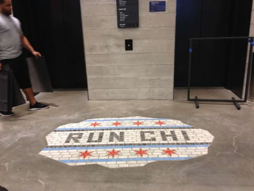 Public Mosaics by bachor seen at Nike, Michigan Avenue, Chicago, IL, Chicago - RUN CHI