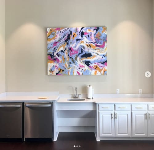 Paintings by Ryan Robinson seen at East Texas Baptist University, Marshall - ETBU Tigers