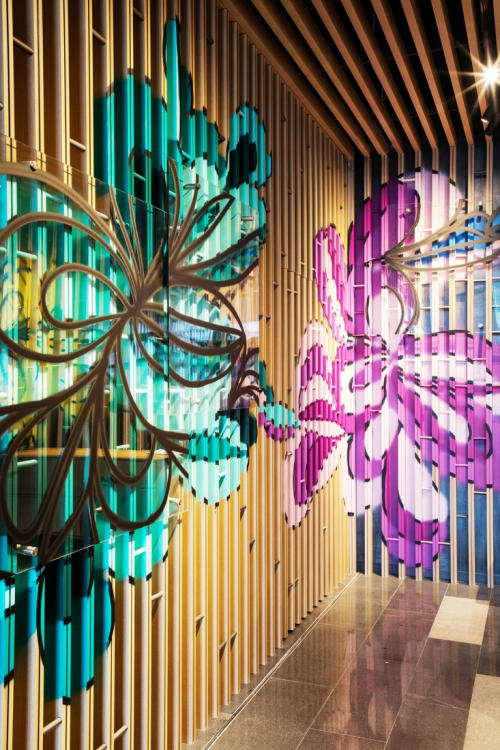 Murals by KEF! at Artyzen Habitat Hongqiao Shanghai, Minhang Qu - Interior Mural