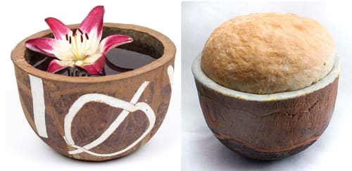 Tableware by BlackTree Studio Pottery & The Potter's Wife seen at Studio Hop, Providence - Crucible or Stoneware Bread Bowl