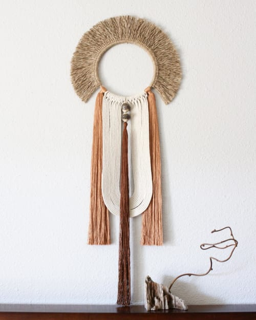 Macrame Wall Hanging by HIMO ART seen at Private Residence, San Diego - Kagetsu no.3