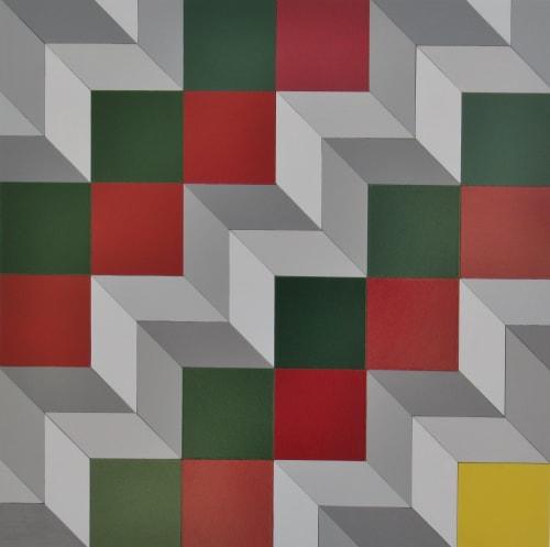 Paintings by Robert Wehkamp seen at Private Residence, Toronto - Op Art 2