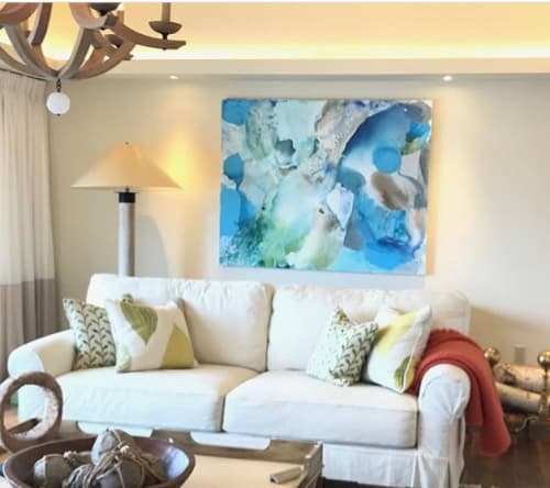 Paintings by Liz Barber seen at Private Residence, Boston - Liz Barber Painting