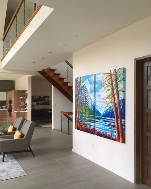 Paintings by Amy Shackleton seen at Private Residence, Toronto - Grow Together (Vancouver + Lake Louise + Toronto)