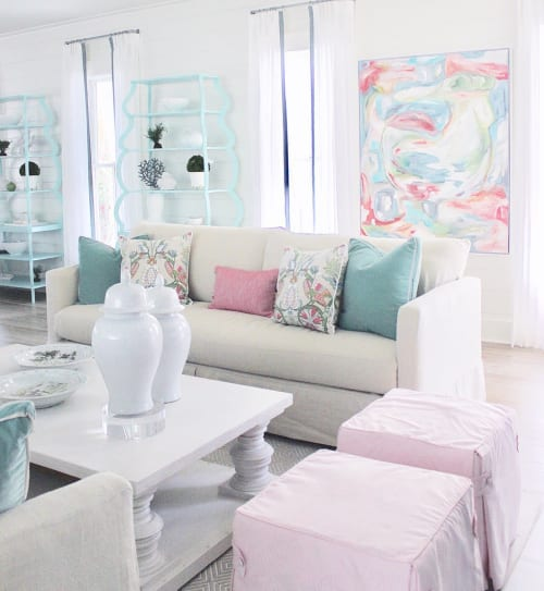 Paintings by Amy Fogg Art seen at Private Residence, Seaside - Fresh Start 2