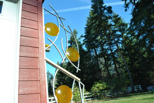 Sculptures by Carleton Fine Work seen at Private Residence, Woodinville - no. 98 (art railing)