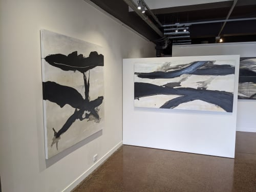 Paintings by Emilie Heurtevent seen at Fox Galleries, Collingwood - Nature series