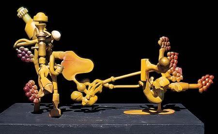 Sculptures by Joseph Slusky seen at Premier Auto Body, Berkeley - Grapeshot