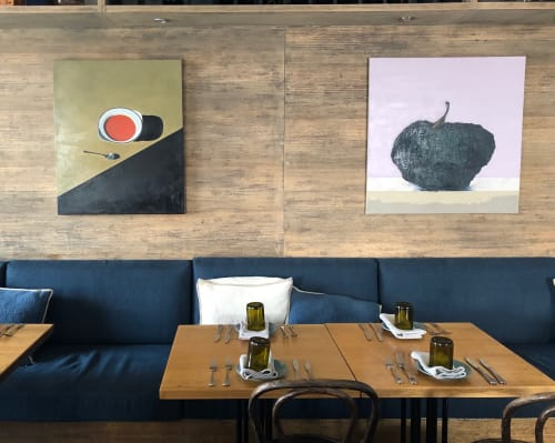 Architecture by Evelyna Helmer seen at I Maccheroni, Woollahra - Blue Pumpkin No. 3
