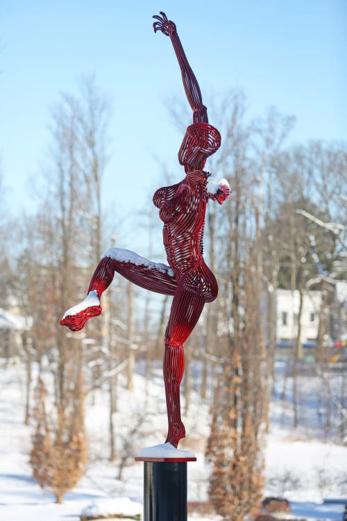 Public Sculptures by Jack Howard-Potter seen at Union College, Schenectady - Dancer 11