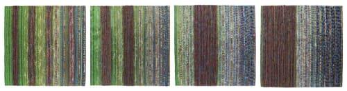 'Bluebell Woods' series of four woven panels. | Art & Wall Decor by Jan Bowman Designs