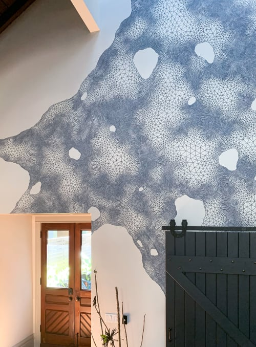 Murals by Hadley Radt seen at Private Residence, San Francisco - San Francisco Private Residence Mural