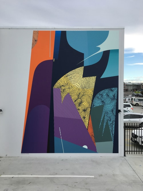 Murals by Robert SEIKON seen at Christchurch, Christchurch - Mural in collaboration with Anastasia Papaleonida