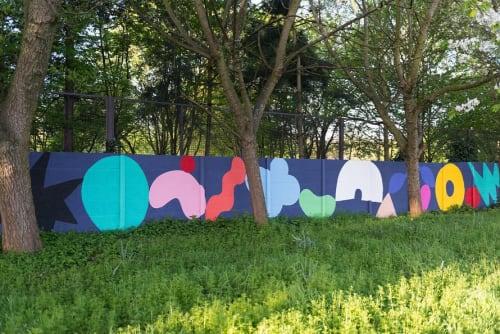 Street Murals by Saskia Pomeroy seen at Kitchener Road, London - Wall Mural