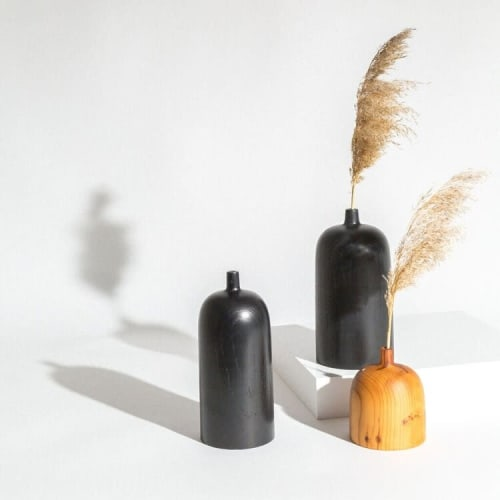 Tall Zai In Black   Vases & Vessels by Whirl & Whittle