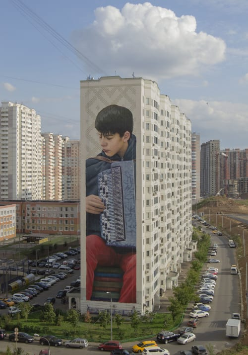 Street Murals by SLIM SAFONT seen at Moscow, Moscow - Self Education
