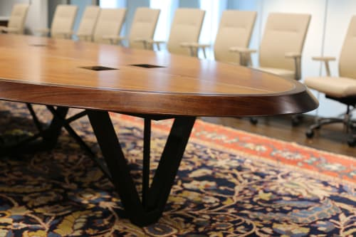 Tables by Rustic Trades Furniture at Mercedes-Benz Stadium, Atlanta - Boardroom Table