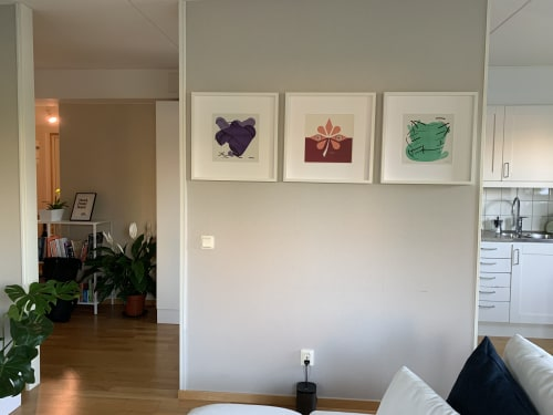 Paintings by dribnet seen at Private Residence, Upplands Väsby - Binoculars and Measuring Cup