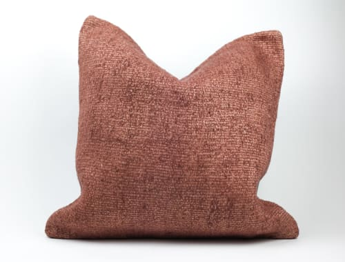 "Pillows by Wayfarer seen at Wescover Gallery at West Coast Craft SF 2019, San Francisco - 18"" Blush Pillow and 20"" Natural Pillow"
