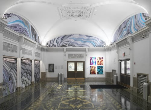 Murals by Lauren Clay seen at Brooklyn Academy of Music, Brooklyn - Installation, The Cithara and the Aulos
