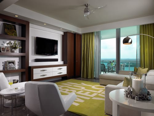 "Rugs by Emma Gardner Design, LLC seen at Private Residence, Bal Harbour, FL, Bal Harbour - ""Can't Buy Me Love"""
