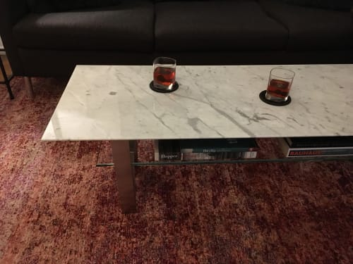 Tables by durodeco seen at Private Residence, New York - Zaza Table