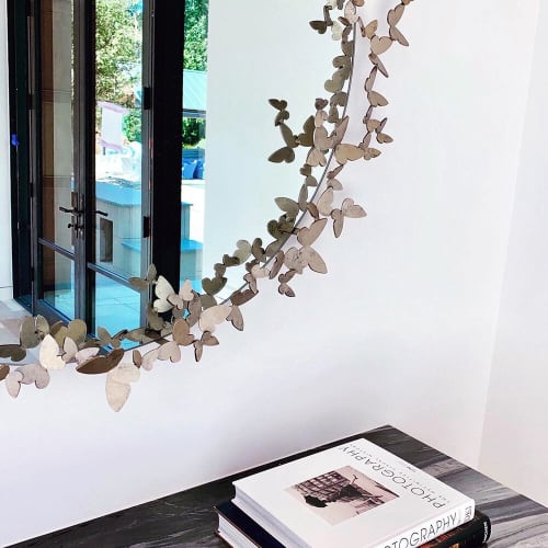 Wall Hangings by Claire Crowe Collection seen at Private Residence, Dallas - Butterfly Mirror