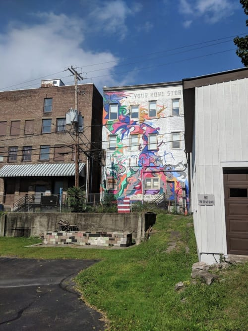 Street Murals by Marty Katzoff seen at Stair Galleries, Hudson - Your Home Store Twist