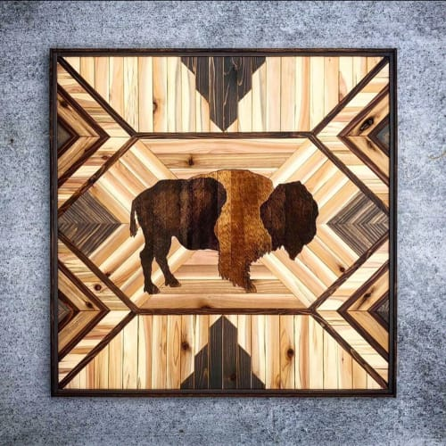 Art & Wall Decor by Sarah Sawdust seen at Private Residence, San Diego - Rustic Woodart