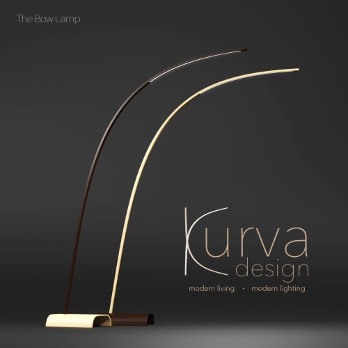 Lamps by Kurva Design seen at Private Residence, Vancouver - Bow Lamp