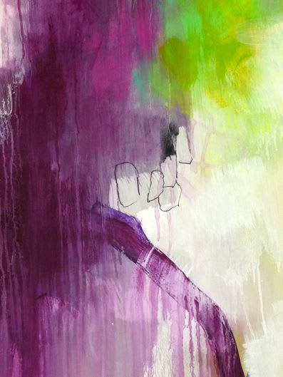 """Paintings by Kirsten Handelmann seen at Private Residence, Los Angeles - """"Look what you have done"""""""