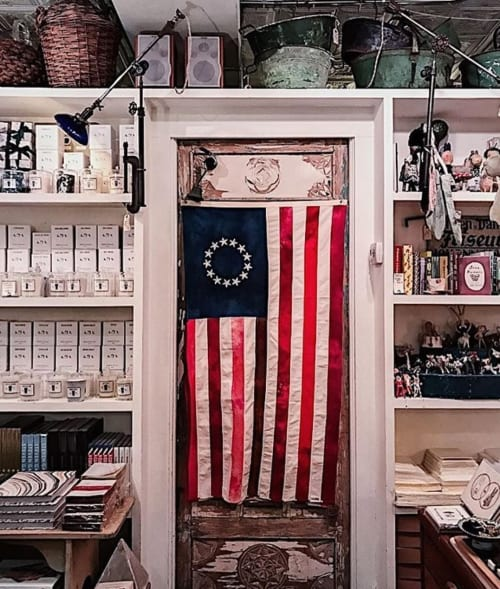 Wall Hangings by Betsy Olmsted seen at John Derian Company Inc, New York - Betsy Ross Flag