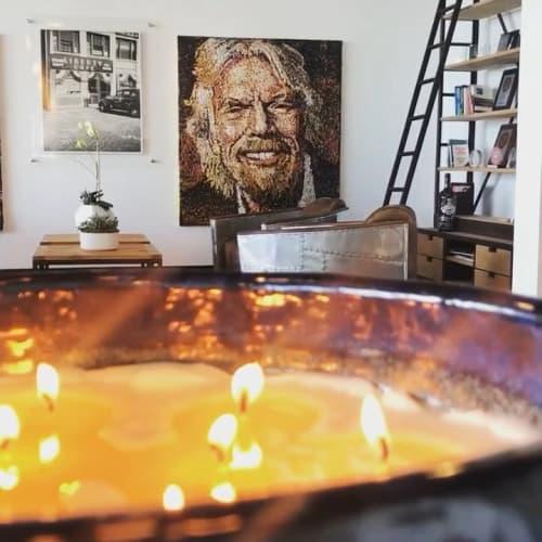 Paintings by Giovanni DeCunto seen at Fama PR, Boston - Richard Branson
