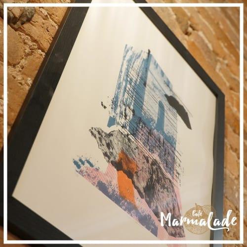 Paintings by Angus Vasili seen at Cafe Marmalade, Liverpool - Sisteron